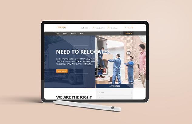 Continental Relocation Corp web design by freelancers hub